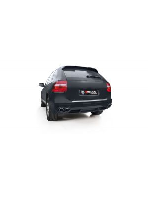 Axle-back-system L/R: Sport exhaust centered (has to be installed in combination with the original exhaust outlets), (EC-) approval