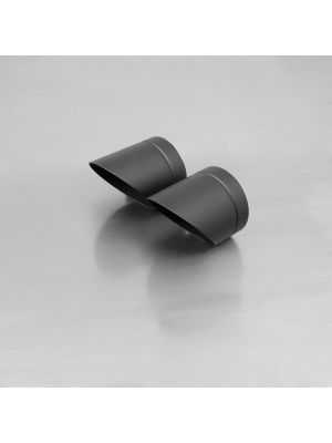 "endcap ""Slash Cut"" (2 Stk.) stainless steel, black"