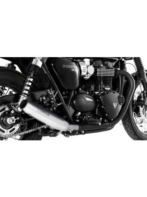 CUSTOM Tapered exhaust left/right Ø 84 mm, Stainless steel chrome, incl. (EC-) approval