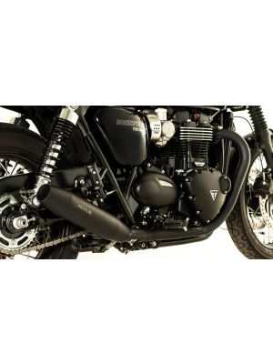 CUSTOM Tapered exhaust left/right Ø 84 mm, Stainless steel black, incl. (EC-) approval