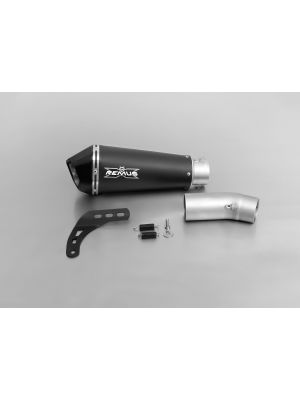 HYPERCONE, slip on (muffler with connecting tube), stainless steel black , 65 mm