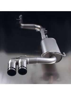 REMUS Cat-Back: Connection tube (instead of front silencer) & Sport exhaust centered with 2 tail pipes Ø 84 mm Street Race