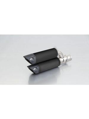 RSC Dual Flow, slip on incl. Heat protecting shield, stainless steel black