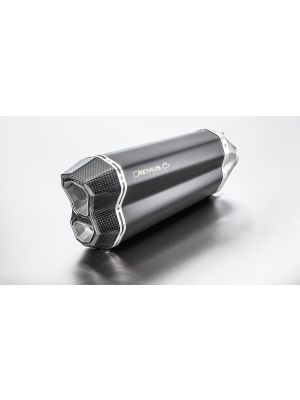 REMUS 8 RACING Slip on (silencer) incl. CARBON heat protection cover and removable sound input, stainless steel black, NO (EC-) APPROVAL