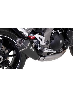 HYPERCONE, slip on, stainless steel black, EEC, 54 mm