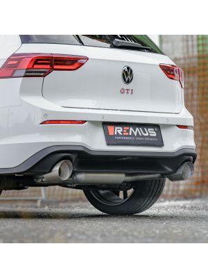 RACING GPF-back-system dual L/R: Sport exhaust centered, Original tube Ø 65 mm - REMUS tube Ø 70 mm, NO (EEC-) APPROVAL